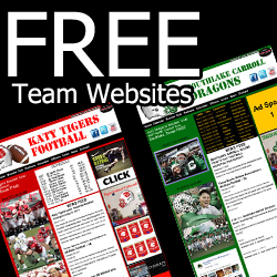 Every high school football team in Texas gets a FREE website, courtesy of Lone Star Gridiron