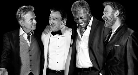 robert de niro morgan freeman michael douglas and kevin kline