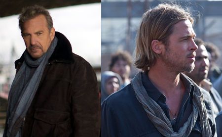 kevin costner, brad pitt, scarf, scarves, product placement,