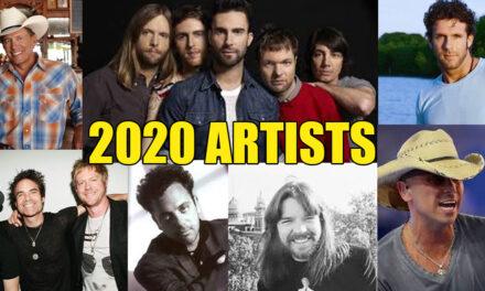 Chris Doelle's 2020 Top Artists